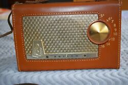 Antique Philco Table Radio 1950s Vintage Battery Capable Excellent Condition