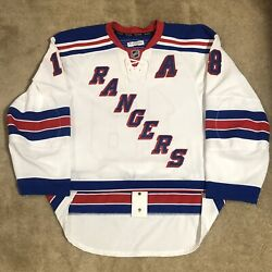 Game Used Marc Staal New York Rangers 2014 Stanley Cup Playoffs Worn Nhl Jersey