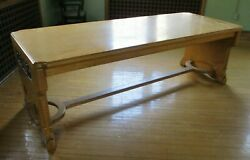 1928 Arts And Crafts - Mission - White Oak Library / Dinning Room Table Amazing