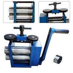 Commercial Manual Rolling Mill Machine Jewelry Tool Alloy Roll 75mm Stainless