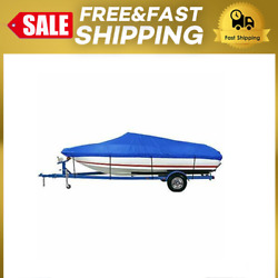 Icover Trailerable Boat Cover- Waterproof Heavy Duty Marine Grade Polyester F...