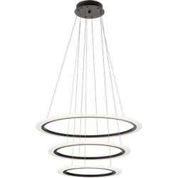 Hyvo 3 Ring Led Bronze Energy Efficient Dimmable Pendant/chandelier 2745