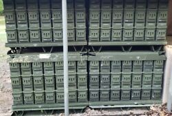 Lot Of 42 40mm Ammo Cans On Pallet Original Us Military Surplus 40 Mm