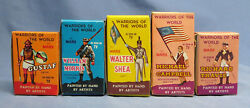 Mixed Lot Of 5 Vintage Marx Toys Warriors Of The World Mint In Box