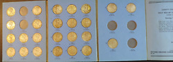 Partial Set 25 Diff Date / Mint Walking Liberty Halves Old Coin Folder 1937-1947