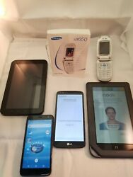 Lot Of 3 Old Used Cell Phones And 2 Tablets Verizon From Storage Units 4.3