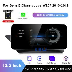 12.3 Android Car Gps Navi Wifi Auto Multimedia For Benz E Class Coupe W207 2010
