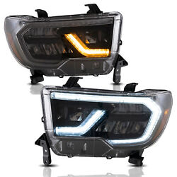 Vland Full Led Reflector Headlights For Toyota 07-13 Tundra And 08-20 Sequoia