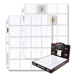 1 Case Of 1000 Bcw 20 Pocket Pages Coin Storage 2 X 2 Holders Sheets