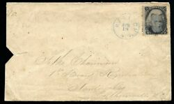 1868 Grilled Blackjack 84 On Cover Raleigh Nc To Albemarle Nc + Aps Letter