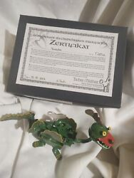 Vtg Wind Up Germany Dragon Tucher And Walther 2007 Original Box Zertifikat Tested
