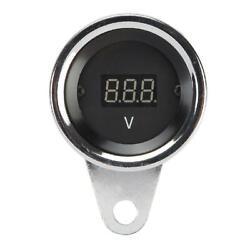12v Universal Led Digital Voltmeter Gauge For Most Motorcycle Atv Dirt Bike