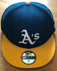Oakland A's, Authentic 59 Fifty Baseball Cap, Size 7, Brand New