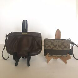 Coach Wristlets X2. One Leather And One Monogrammed Wristlet $30.00