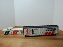 Tyco Ho Scale Boxcar Gatx 85760 The Minutemen Spirit Of 76 Car And Caboose Shell