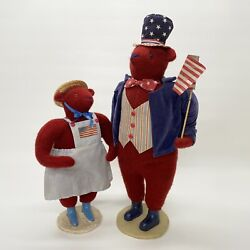 Cody Foster Early Original July 4th Patriotic Red Mamma And Papa Bear Couple