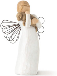 Willow Tree Angel Of Friendship Figurine, Natural, 5 Height