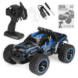 Rc Car Waterproof Remote Monster Trucks High Speed Usb Charge Vehicle Blue