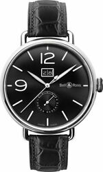 Brand New Bell And Ross Vintage Ww1 Black Dial Menand039s Watch Brww190-bl-st/scr