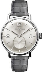 New Bell And Ross Vintage Ww1 Silver Dial 41mm Men's Watch Brww1-me-ag-si/scr