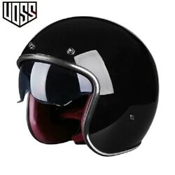 Motor Bike Helmet Open Face Safety 3/4 Half Helmet Abs Material Unisex