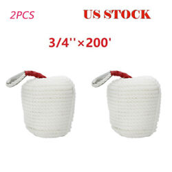 2pcs 3/4and039and039 Andtimes200and039 Ft Boat Marine Anchor Line Docking Mooring Rope Us Stock