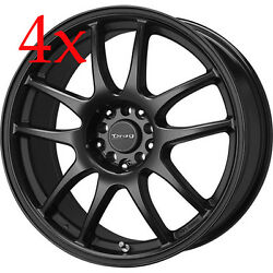 Drag Wheels Dr-31 17x9 5x100 5x114 +28 Matte Black Rims For Is350 Is250 G35 G37