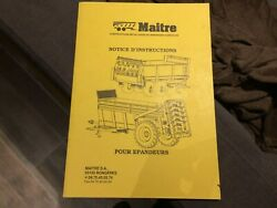 Antique Manual Advertising Instructions Manure Spreaders Tractor Master