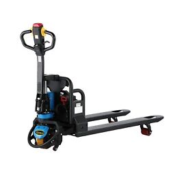 Apollolift Electric Lithium Pallet Jack With Battery 3300lbs 48 X 21/27 Blue