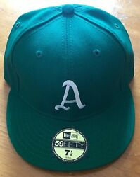 Oakland A's,authentic Green Fitted 59 Fifty Baseball Cap, Size 7 1/8,brand New