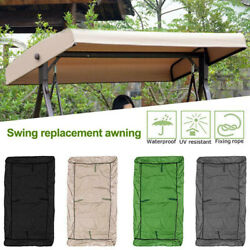 Us Swing Canopy Cover Waterproof Replacement Parts Outdoor Garden Sun Shade Roof