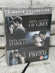 Fifty Shades Of Grey Complete Trilogy 3 Movie Blu-ray Box Set New
