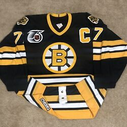 Ccm Authentic Ray Bourque Boston Bruins Nhl Hockey Jersey Vintage Black Away 52