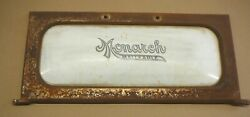 Monarch Malleable Ranges Antique Cook Stove White Enamel And Cast Iron Door Sign