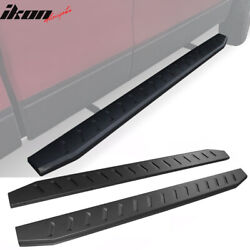 Fits 99-03 Ford F150 Super Cab 76 Black Running Boards Side Step Nerf Bar 2pc