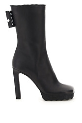 New Off-white Nappa Boots Owid005f20lea001 Black Authentic Nwt