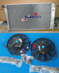 Aluminum Radiator And Fans For Saab 9-5 95 2.3 Turbo 1999-2009