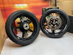 🔥genuine 09-21 Harley Cvo Touring Front And Rear Tomahawk Wheels And Tires Oem🔥