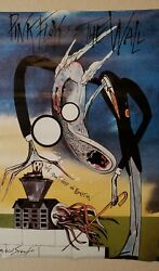 Pink Floyd The Wall Gerald Scarfe 1982 Authentic Vintage Original Poster