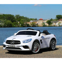 First Drive Mercedes Benz Sl Kids Electric Ride On Car W/ Remote Control White