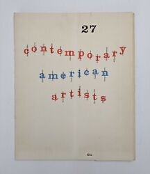 Mid-century 27 Contemporary American Artists Book Artists Equity Association...