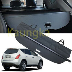 Rear Trunk Security Cargo Cover Privacy Black Shade For 2003-2007 Nissan Murano