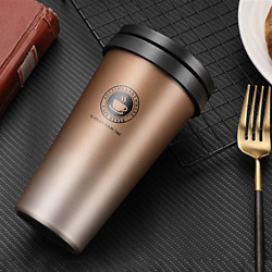 Coffee Cup Thermos Flask Double Wall Vacuum Travel Stainless Steel Vacuum Mug