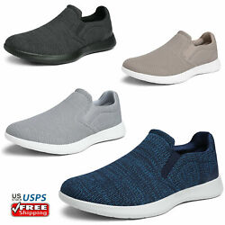 Mens Slip On Casual Shoes Comfort Knit Loafers Walking Shoe Size 6.5 13 $27.25