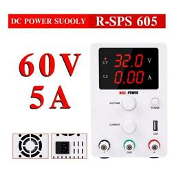 Dc Power Variable Supply 60v 5a 4digital Display Adjustable Regulated Switching