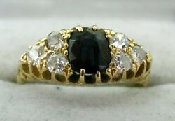 Antique Beautiful 18 Carat Gold Sapphire And Diamond Ring Size R