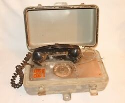 Vintage Stromberg Carlson U.s. Navy Ships Rotary Phone Telephone Type G As Is
