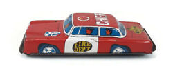 Vintage Tin Litho Toy Fire Dept Chief Car Made In Japan Old Original