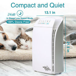 Air Purifier Cleaner Hepa Filter Large Room Remove Odor Dust Mold Home Allergies
