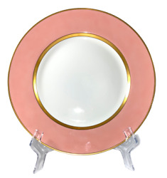 Fitz And Floyd Renaissance Peach 12 Chop/service Plates Chargers, Set Of Four